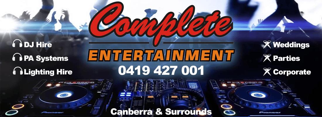Banner DJ Hire Canberra